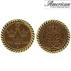 Swedish Coin ORE Crown Cufflinks