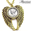 Mercury Dime Rhinestone Wing Pendant