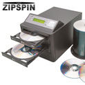 ZipSpin Duplicator with 100 DVDs