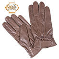Womens Leather Insulated Gloves - Brown - 16.66