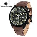 Ben & Sons Black Dial Watch - 44.43