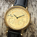 Gold Coin Watch - 89.99