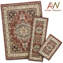 3-Piece Apex Rug Set - Brown - $49.99