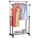 Double Rail Garment Rack - 27.99