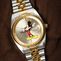 Mens 2-Tone Mickey Mouse Watch