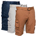 Gray Earth Cargo Shorts - 3 Pack - 39.99