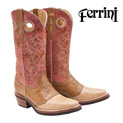 Ferrini Lizard Boots - Sand/Pink