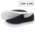 Zig-Zag Canvas Slip-Ons - Black - 19.99