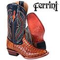 Cognac Ferrini Caiman Boots - 277.77