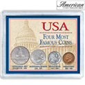 USA Four Most Famous Coins - 24.99