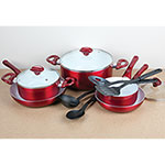 12 Piece Ceramic Cookware
