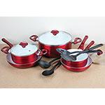12 Piece Ceramic Cookware