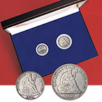 Seated Liberty Dime and Quarter Set