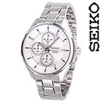Seiko Silver Chrono Watch