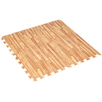 12 Piece Woodgrain Floor Mats