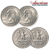 2 Headed/2 Tailed Quarter Set