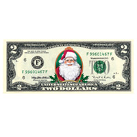 Merry Money Colorized $2 Bill