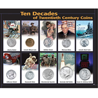 10 Decades 20th Century Coins
