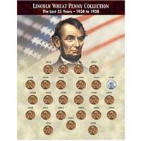 The Last 25 Years of Lincoln Wheat Penny Collection (1934-1958)