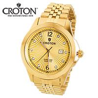 Croton Gold Diamond Watch