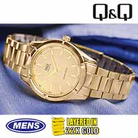 Q&Q Gold Dress Watch