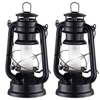 Black Vintage Lanterns - 2 Pack