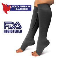 Zipper Compression Socks - Black