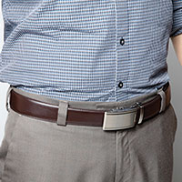 Link Belts with Satin Buckles
