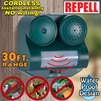 2 Pack Outdoor Animal Repellers