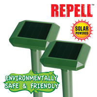Solar Mole Repellers - 2 Pack