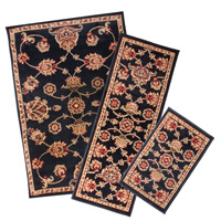Black Apex 3PC Rug Set