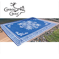Blue/White Outdoor Rug - 8x11