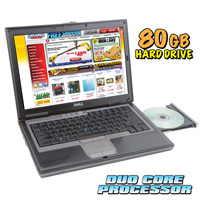 Dell Duo Core Laptop - 80GB