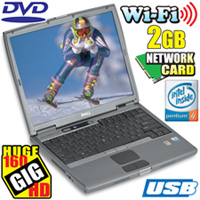 2 Gig/ 160GB Hard Drive Notebook Computer