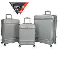 Travelers Club Hard Luggage Set - 3 Piece