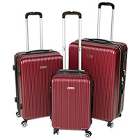 Red Hardshell Luggage Set