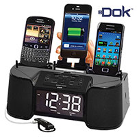 4-Port Charger with Speaker & Alarm Radio