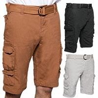 Gray Earth Cargo Shorts - 3 Pack