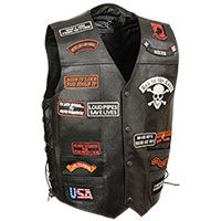 Men's Full Leather Vest