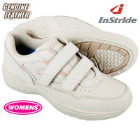 InStride Womens Leather Strap Shoes - White