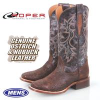 Roper Ostrich Skin Boots