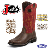 Justin Rustic Barnwood Boots