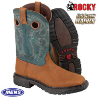 Blue Rocky Western Boots