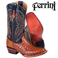Cognac Ferrini Caiman Boots