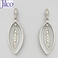 Diamond Leaf Earrings