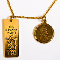 Lincoln Wheat-Ear Penny Pendant