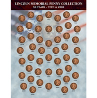 Lincoln Memorial Penny Collection 1959-2008