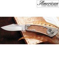 2005 Westward Journey Bison Nickel Pocket Knife