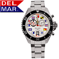 Men's 200M Analog Tide Nautical Dial SS Band