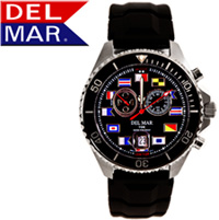Men's 200M Analog Tide Nautical Dial Rubber Band